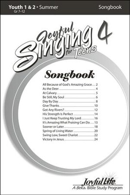 Joyful Singing for Teens #4 Songs   -