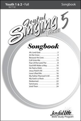 Joyful Singing for Teens #5 Songbook   -