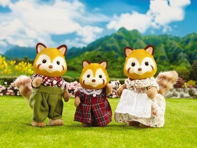 Calico Critters, Red Panda Family  -