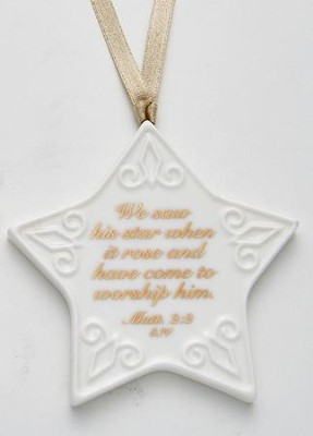 Christmas Star Ornament  -