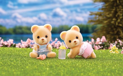 Calico Critters Cuddle Bear Twins  -