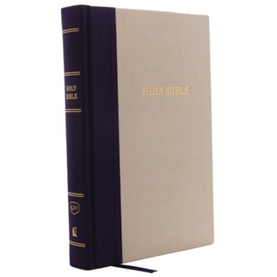 KJV Reference Bible, Giant Print, Blue and Tan, Hardcover  -