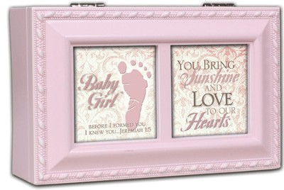 Footprint Music Box, Baby Girl  -