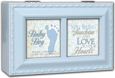 Footprint Music Box, Baby Boy  -