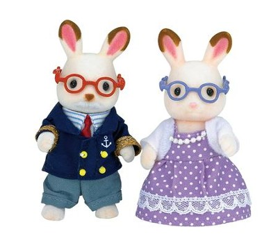 Calico Critters, Hopscotch Rabbit Grandparents  -