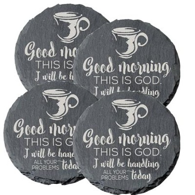 Good Morning, This Is God Coasters, Set of 4  -