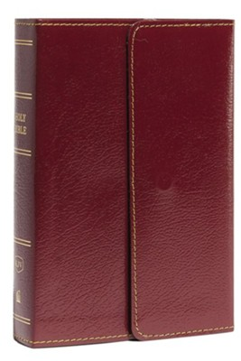 KJV Compact Reference Bible with Snapflap, Large Print, Leather-Look, Burgundy  -