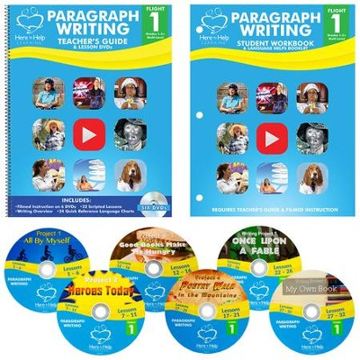 Flight 1: Paragraph Writing Teacher's Kit (DVDs, Guide & Student Workbook)  -