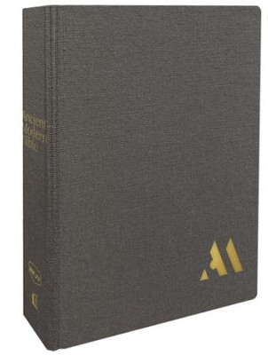 NKJV Comfort Print Ancient-Modern Bible, Cloth over Board, Gray  -