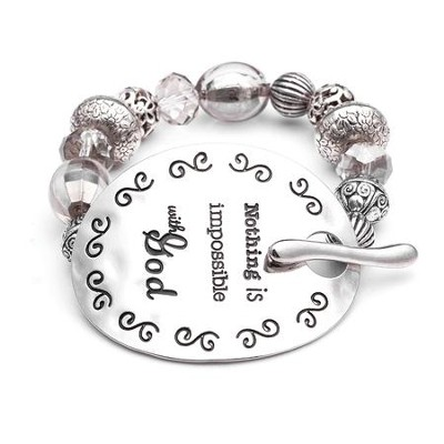 Nothing Is Impossible, Words To Live By Bracelet  -