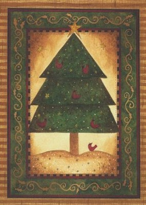 Cardinal Tree (Psalm 134:3), 20 Count Boxed Christmas Cards  -