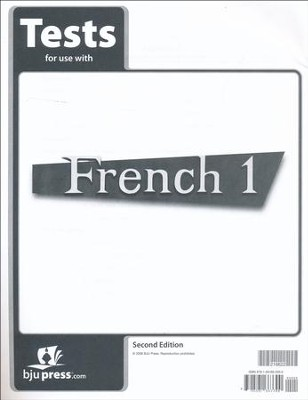 BJU French 1 Tests, Second Edition    -