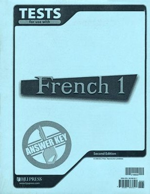BJU French 1 Tests Answer Key, Second Edition    -