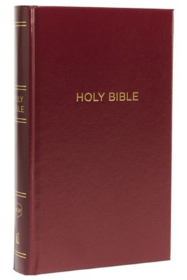 NKJV Comfort Print Reference Bible, Personal Size Giant Print, Hardcover, Burgundy  -