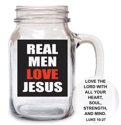 Real Men Love Jesus Glass  -