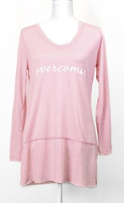 Overcomer, Long Sleeve Shirt, Pink, Small  -