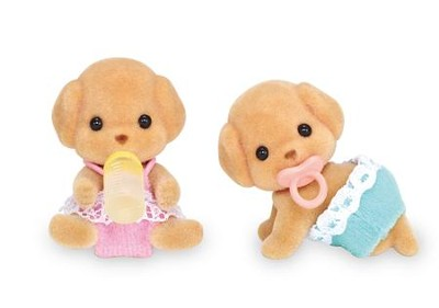 Calico Critters, Toy Poodle Twins  -