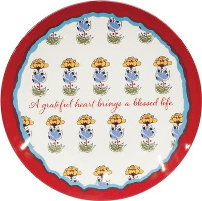 A Grateful Heart, Melamine Plate   -