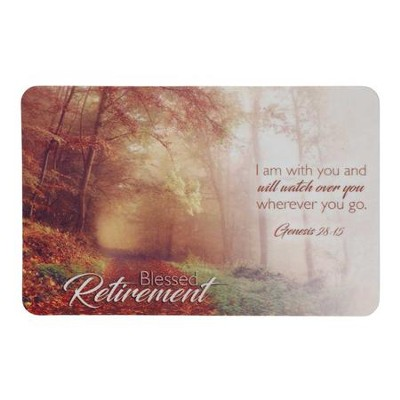 Blessed Retirement, Genesis 28:15, Pocket Card  -