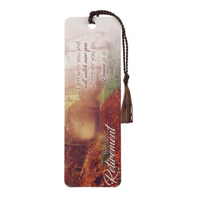 Blessed Retirement, Genesis 28:15, Bookmark with Tassel  -