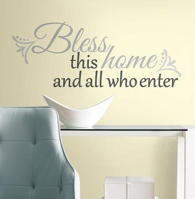Bless this Home, Vinyl Wall Stickers  -