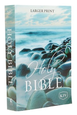 KJV Holy Bible, Larger Print--softcover, multicolor  -