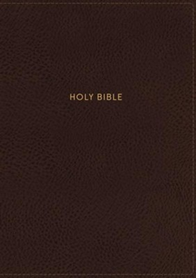 NKJV Comfort Print Single-Column Reference Bible, Imitation Leather, Brown  -