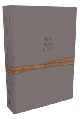 NKJV Comfort Print Journal the Word Bible, Hardcover, Gray  -