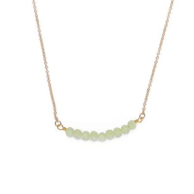 Seed Of Faith Necklace, Gold Plate, Green  -