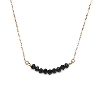 Seed Of Faith Necklace, Gold Plate, Black  -