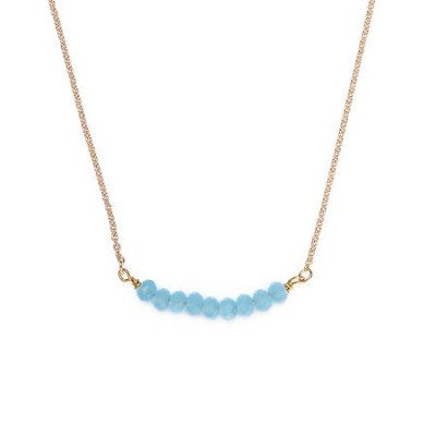 Seed Of Faith Necklace, Gold Plate, Light Blue  -