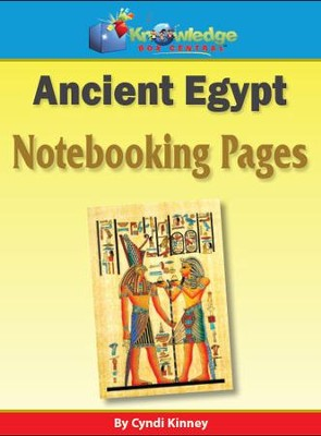 Ancient Egypt Notebooking Pages - PDF Download   [Download] -     By: Cyndi Kinney