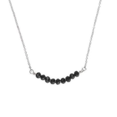 Seed Of Faith Necklace, Rhodium Plate, Black  -