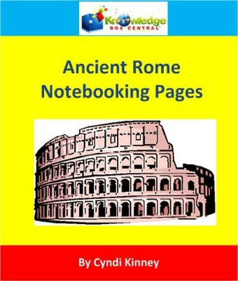 Ancient Rome Notebooking Pages - PDF Download   [Download] -     By: Cyndi Kinney