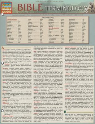 Bible Terminology, Laminated Guide  -     By: Alfredo Garcia