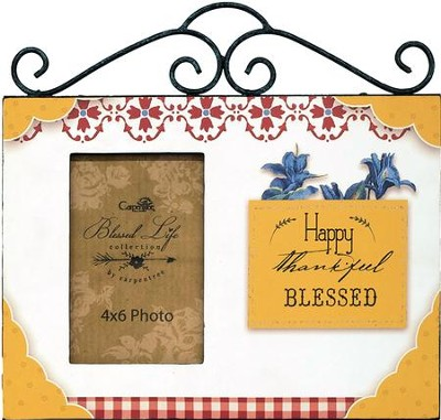 Happy, Thankful, Blessed, Photo Frame  -