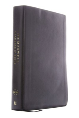 NKJV Comfort Print Maxwell Leadership Bible, Third Edition, Imitation Leather, Black  -     By: John Maxwell