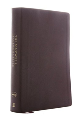 NKJV Comfort Print Maxwell Leadership Bible, Third Edition, Premium Bonded Leather, Burgundy  -     By: John Maxwell