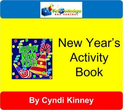 New Year's Activity Book ~ Holiday Fun - PDF Download  [Download] -     By: Cyndi Kinney