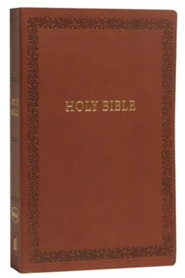 NKJV Comfort Print Holy Bible, Soft Touch Edition, Imitation Leather, Brown  -