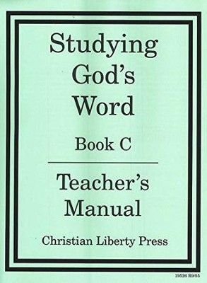 Studying God's Word Level C Teacher's Manual, Grade 2    -     By: Homeschool