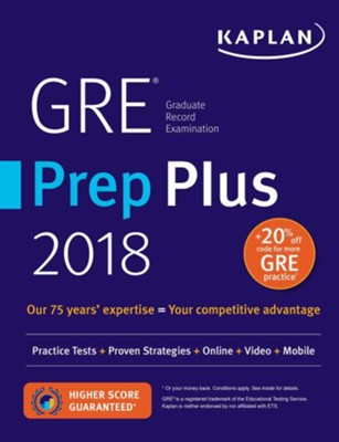 GRE Premier 2018 with 6 Practice Tests: Online + Book + Videos + Mobile  -     By: Kaplan