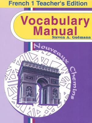 Abeka Nouveaux Chemins French Year 1 Vocabulary Manual  Teacher  Edition  -