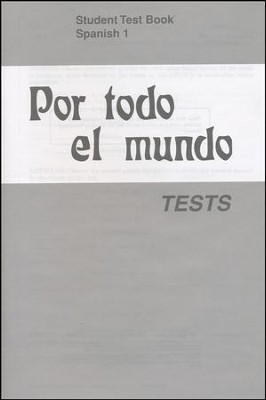 Por todo el mundo Spanish Year 1 Tests   -