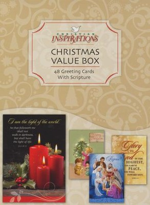 Value Box, Assorted Christmas Cards, Box of 48   -