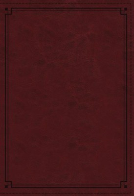 NKJV Comfort Print Study Bible, Imitation Leather, crimson, indexed   -