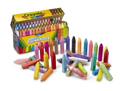 Ultimate Sidewalk Chalk Collection, 64 Pieces  -