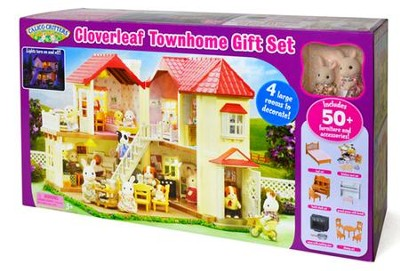 Calico Critters, Cloverleaf Townhome Gift Set   -