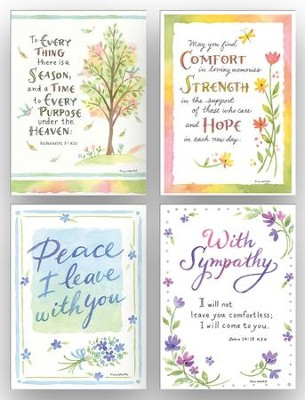 Comfort, Sympathy Cards, Box of 12  -     By: Tina Wenke