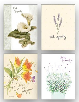 Floral Sympathy Cards, Box of 12  -     By: Takashi Sakai